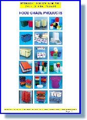 Colour Coded containers and dollies for FOOD HANDLING