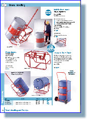 Drum Handling, Drum Tilt, Drum Lift, Drum Pallet Loader, Drum Stands